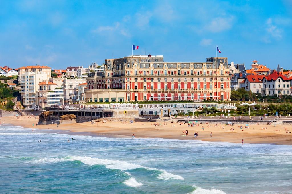 Hotel du Palais building in Biarritz