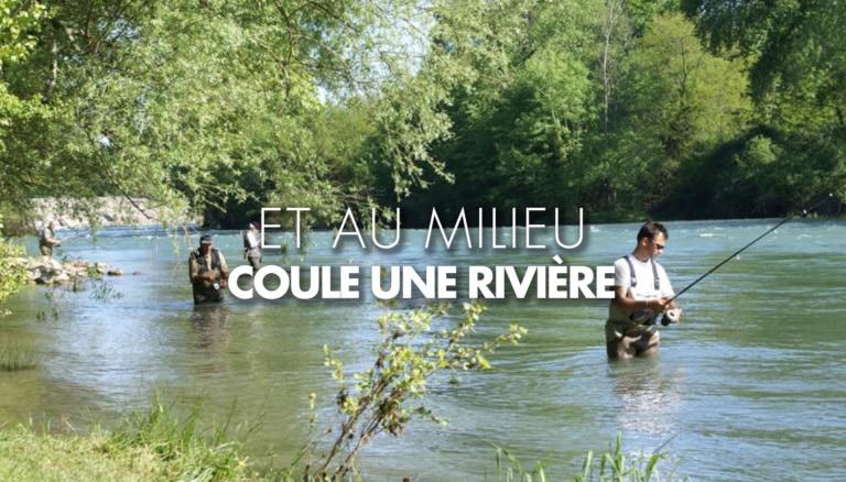 Pêcheurs dans un gave du Béarn